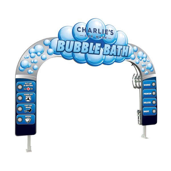 Bubble Header LIT Car Wash Arch
