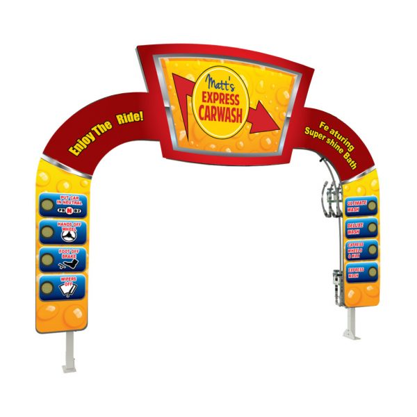 Keystone Header LIT Car Wash Arch
