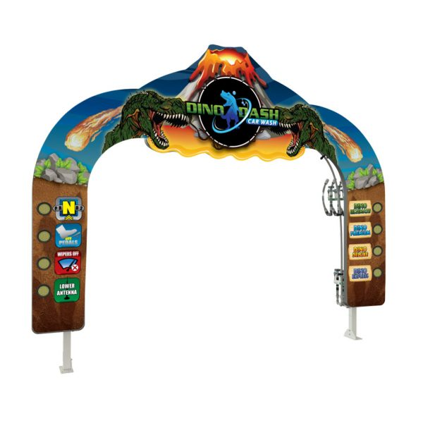 Volcano Header LIT Car Wash Arch