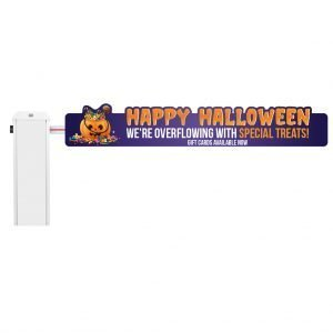 Halloween Gate Sign Mockup