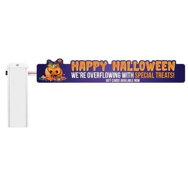 Halloween Gate Sign Mockup